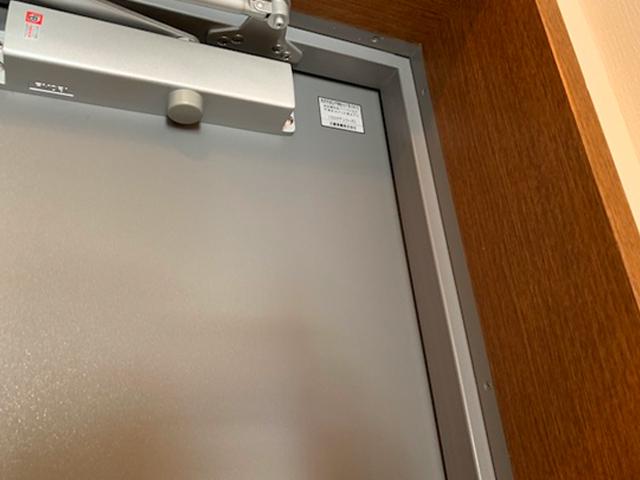 玄関扉凹み1補修後